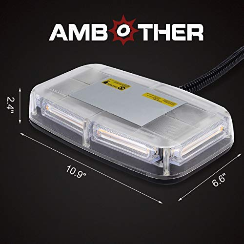 AMBOTHER Amber Emergency Strobe Lights Bar 17 Modes