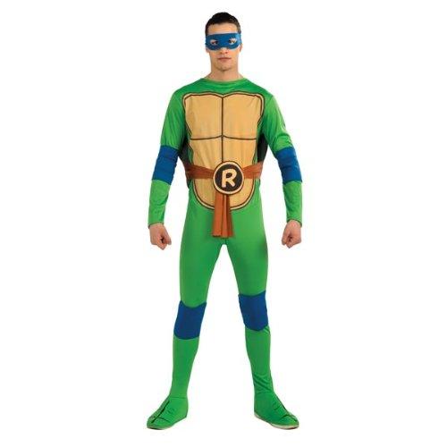 Ninja Turtles Adults Costumes (Nickelodeon Ninja Turtles Adult Leonardo and Accessories, Green, x-Large Costume)