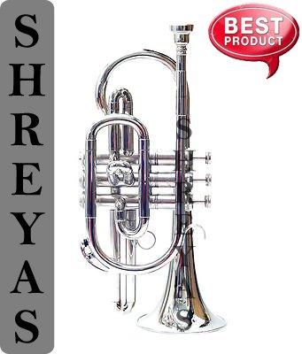 Shreyas Cornet Bb Pitch With Free Hard Case And Mouthpiece Nickel Silver by SHREYAS