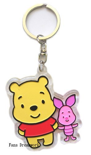 964701381931 Disney Winnie The Pooh Keychain - Pooh   Piglet zipper pull  Apparel    Toy   Amazon.co.uk  Toys   Games