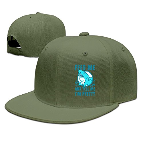 Runy Custom Feed Me And Tell Me I Am Pretty Adjustable Baseball Hat & Cap ForestGreen