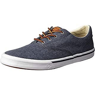 Sperry Men's Striper II Cvo Sneaker, Navy, 9 Wide
