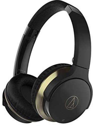 Audio-Technica ATH-AR3BTBK SonicFuel Wireless On-Ear Headphones with Mic & Control, Black