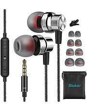 Blukar In-Ear-hörlurar, Hörlurar i örat Hörlurar med rent Ljud och Mikrofonbrusisolerande, Hög Upplösning, Trasselfri för iPhone, iPod, iPad, Surfplattor och alla 3,5 mm Ljuduttag