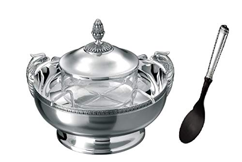 - Malmaison by Christofle Silver Plated Caviar Set Serving Dish with Spoon New