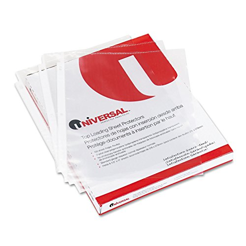 (Universal 21130 Top-Load Poly Sheet Protectors, Economy, Letter, 100/Box)