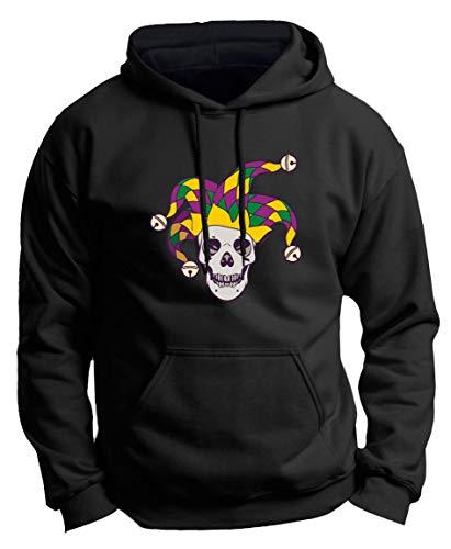 Mardi Gras Party Attire (Mardi Gras Party Supplies Skull Apparel Mardi Gras Outfit Jester Skull Mardi Gras Attire Premium Hoodie Sweatshirt Medium)