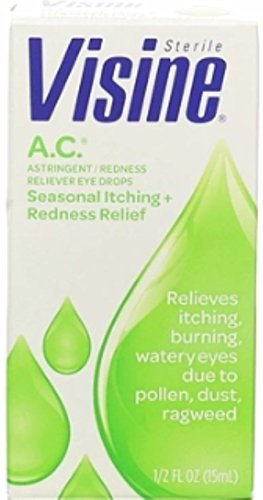 - Visine A.C. Astringent/Redness Reliever Eye Drops .5 oz. (Pack of 3)