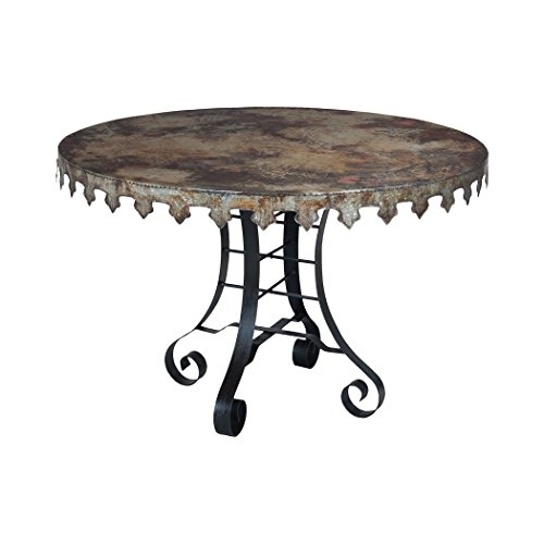 Manhattan Collection Reclaimed Tin 47-Inch Bistro Table