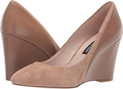 Nine West Women's Daday Dress Wedge Latte 8 M US (Woman Wedge Nine West Shoes 8)