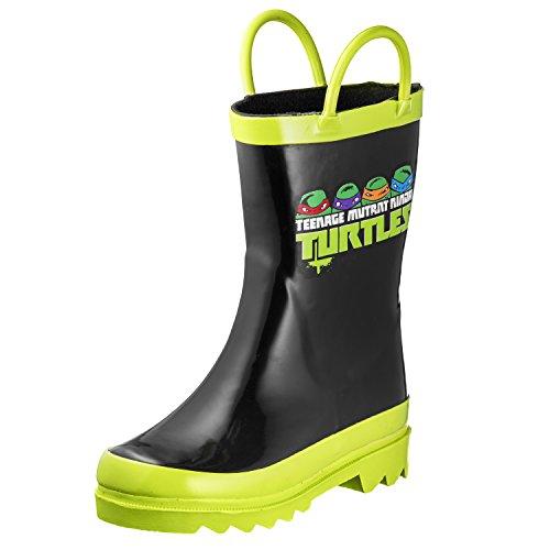Boys Teenage Mutant Ninja Turtles TMNT Waterproof Easy-On Rubber Rain Boots