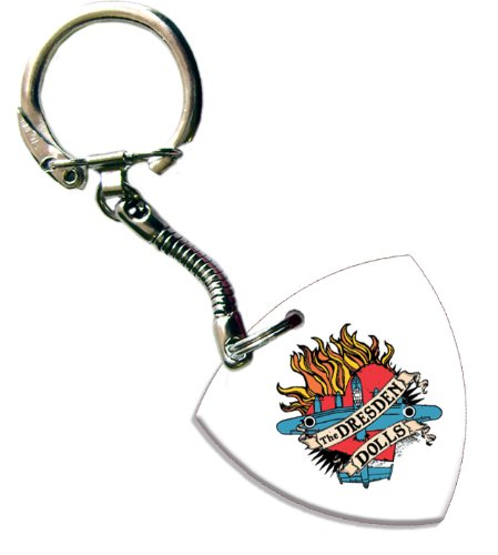 Dresden Dolls Bass Pick Keyring Keychain Band Logo Plectrum