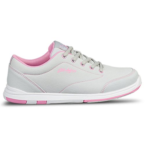 KR Strikeforce Women's Chill Bowling Shoes, Gray/Pink, Size 7 by KR