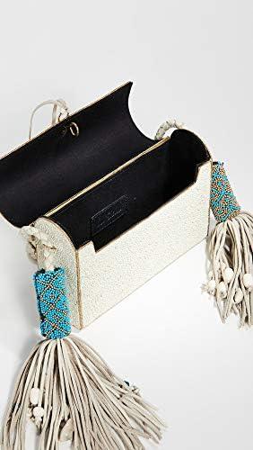 Sam Edelman Women's Indigo Metal Hardcase Bag, Marshmallow, Off White, Gold, One Size