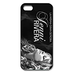 AZA Hard Case for iPhone 5s, Jenni Rivera Protective iPhone Cover-Black/White-Retail Packaging