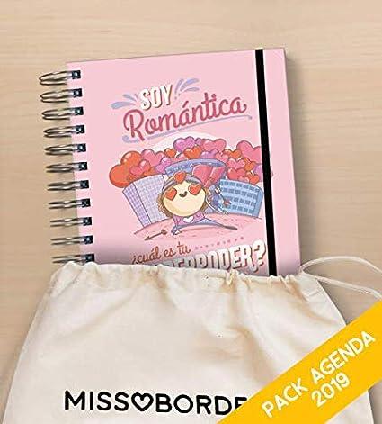 Missborderlike - Agenda Anual 2019 Dia vista + saco - Romantica