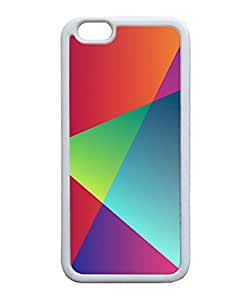 VUTTOO Iphone 6 Plus Case, Colorful Triangles Style Back Case for Apple Iphone 6 Plus 5.5 Inch - TPU White