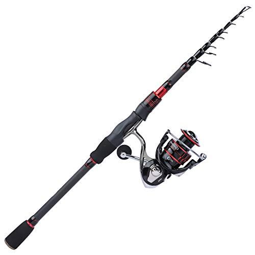 Sougayilang Telescopic Fishing Rod and Reel Combos, Carbon Fiber Telescopic Fishing Rod and Spinning Reel for Freshwater