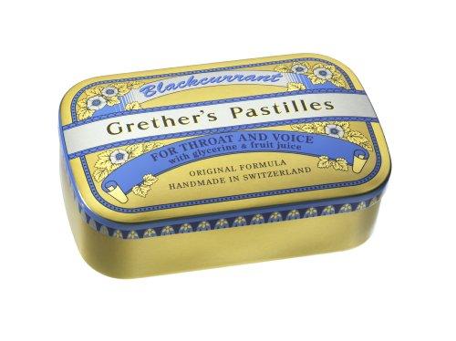 Grether's Pastilles Blackcurrant 110g - Pack of 45 Lozenges