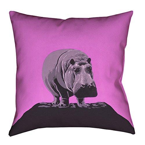 Zoo Hippo (ArtVerse Katelyn Smith Vintage Pink Hippo Zoo Poster 16