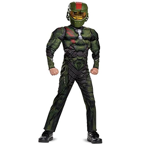 Halo Wars 2 Jerome Classic Muscle Costume, Green, Medium (7-8)