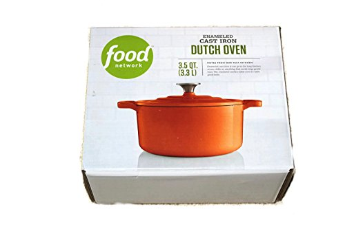Food Network 3.5 qt Enameled Cast-Iron Dutch Oven (1/2 Quart Enameled Cast Iron)