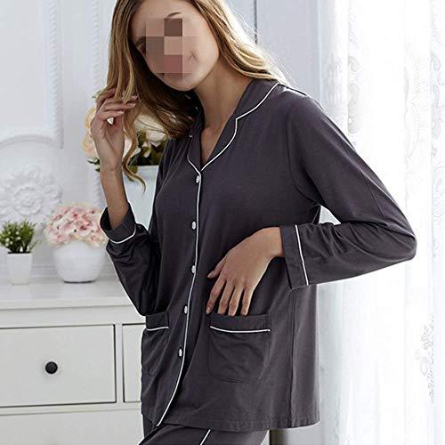 Di Casa Donne Lunghe A Estate Modal XL E Pigiama Cardigan Casual Primavera Suit Maniche Pantaloni Servizio wnWxOg0p0