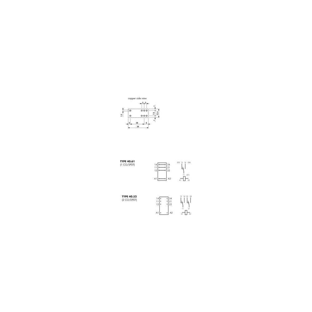 Finder Series 40/ /Mini Rele relais 5/mm 1/bidirezionale 16/A 12/VAC
