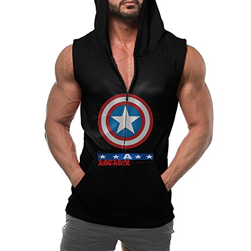 [Mens Navy Steve Rogers Super Soldier Captain America Uniform Marvel T Shirt] (Captain America Uniform)