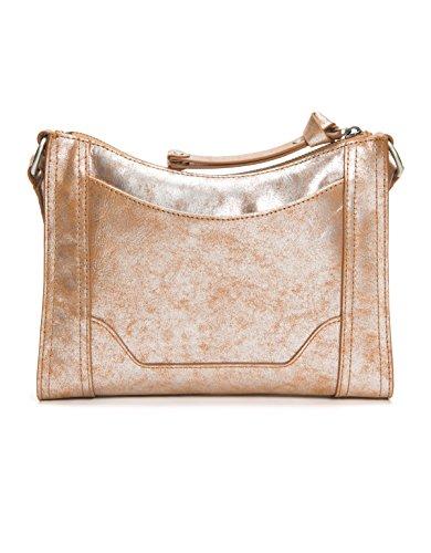 Leather Crossbody Multi Zip Frye Melissa Bag Silver EqnPvwa