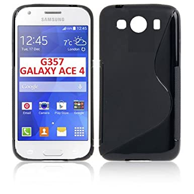 183fa2c8157 TPU Silicone Gel Case For Samsung G357 Double Galaxy Ace 4 Color Black:  Amazon.co.uk: Electronics