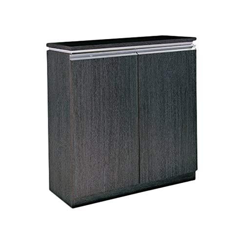 Rackmyshoe Wood Shoe Storage - 20-Pair Shoe Storage Cabinet with Oak Veneer - Java ()