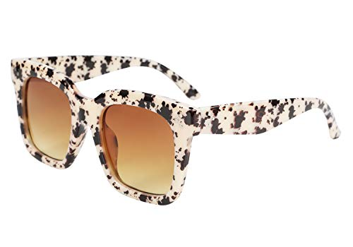 FEISEDY Vintage Women Butterfly Sunglasses Designer Luxury Square Gradient Sun Glasses Shades ()