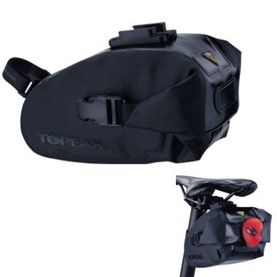 - Topeak Wedge Drybag with Fixer (Black, 6.9x4.3x4.5-Inch, Medium)