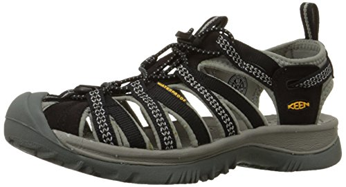 KEEN Women's Whisper Sandal,Black/Neutral Gray,8 M US
