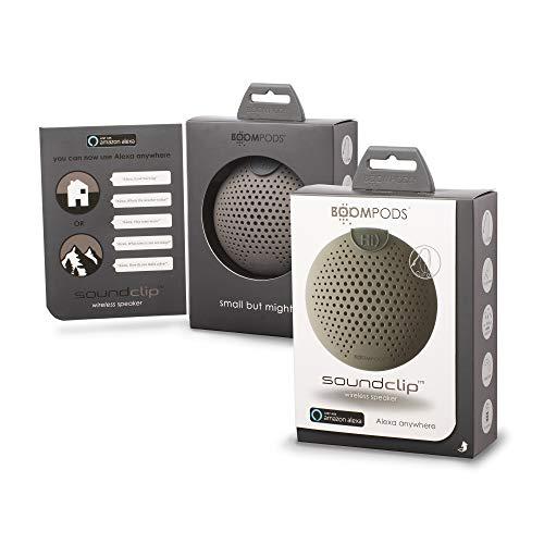 BOOMPODS SOUNDCLIP Portable Wireless Speaker – Best Mini Bluetooth Flip Clip Amazon Alexa Built-in Pocket Speakers…