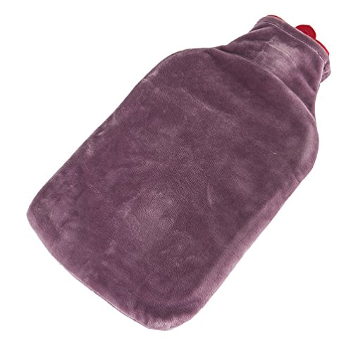 Spa Comforts Cozy Comfort Hot Water Bottle, Combination Hot Water Bottle for Tension Relief and Stomach Pain Relief, Deluxe Bed Warmer