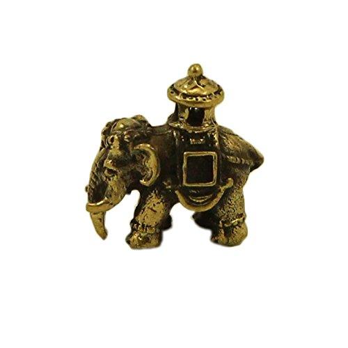 CTOC Elephant Bronze small Statuette Handmade Figurine Souvenir for a purse