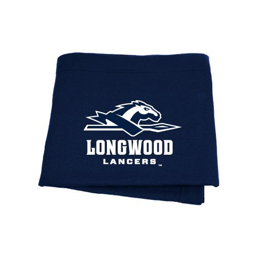 CollegeFanGear Longwood Navy Sweatshirt Blanket 'Official Logo' by CollegeFanGear