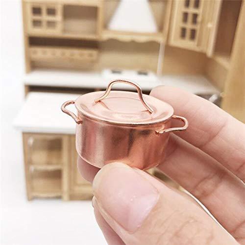 - EatingBiting(R) Mini Soup Pot 1/12 Dollhouse Miniature Kitchen Copper Pot 1:12 Dollhouse Miniature Furniture Kitchen Room Soup Pot Cooking Pot Landscape Miniature Bronze Frying pan Pot Cooking kit