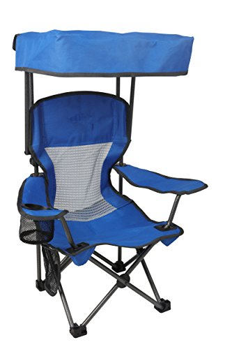 Westfield Outdoor Blue Kid s Folding Chair with Canopy and Durable Carry Bag Blue