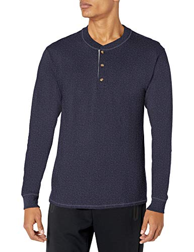 Hanes Men's Long Sleeve Beefy Henley Shirt : Size - X-Large, Color - Slate Heather (B010276VT4)