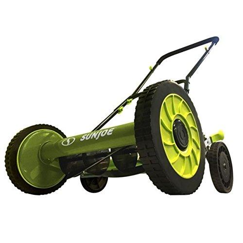 Sun Joe MJ504M Push Manual Reel Mower Without Grass Catcher, 16'', Green