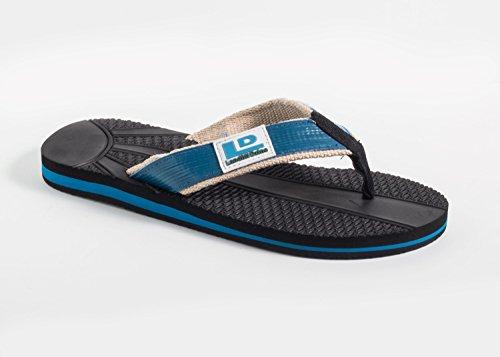 Deponi Dzine Resirkuleres Mens Flip-flops Blue 8 M Oss