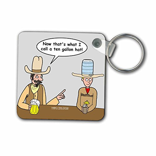 3dRose Ten Gallon Cowboy Hat - Key Chains, 2,25 x 2,25