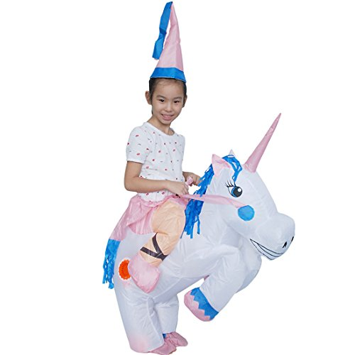 Cute Sailor Costumes Ideas (Inflatable Unicorn Rider Costume Halloween Suit Cosplay Funny Fancy Blow Up (Children))