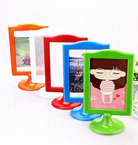 Photo Assorted Frame - Leoyoubei Pack of 10 Vertical Stand Photo Frame Double Sided Sign Display Holder Each Frame Holds 2 Pictures 4x6,menu Box/Price tag/Culture Card/Ornaments Exhibition(Assorted Colors)