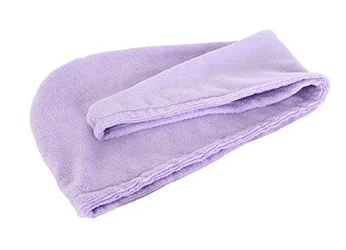 "Price comparison product image Yinglite Hair Turban Microfiber Hair Drying Towel Bath Head Wrap Turban Size: 9.8"" X 25.2"" Quick Dry Hat Cap NEW (Violet)"