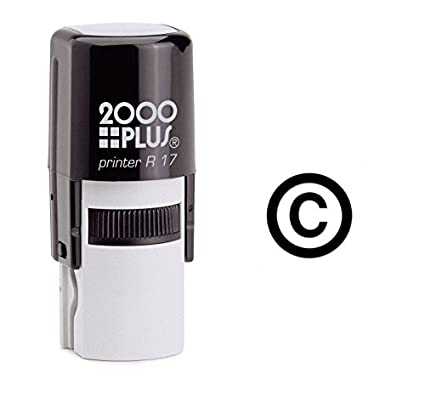 Amazon Copyright Symbol Self Inking Rubber Stamp Black Ink