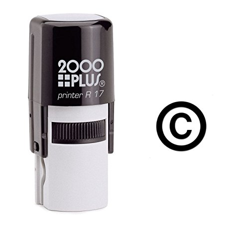 Copyright Symbol Self Inking Rubber Stamp - Black Ink (A-6274)